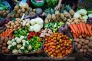 Variety of fresh vegetables at market. Siem Reap